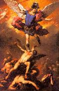 Luca  Giordano The Archangel Michael Flinging the Rebel Angels into the Abyss oil painting artist